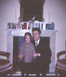 My Dad and I, Christmas Day 1961 at our apartment, 1050 Fifth Avenue, New York City.